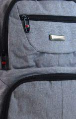 New Berry Elegantní polstrovaný školní batoh L18105 světle šedý E-batoh