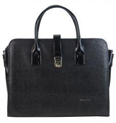 """Černá elegantní dámská aktovka / taška na notebook 15.6"""" v hadí kůži ST02 GROSSO"""