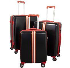 Cestovní kufry sada RACING  L,M,S BLACK-RED