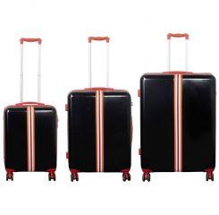 Cestovní kufry sada RACING L,M,S BLACK-RED MONOPOL E-batoh