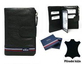 f4cd02737f1 Černá dámská kožená peněženka WILD v krabičce E-batoh