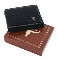 Černá pánská kožená peněženka RFID obvodový zip v krabičce WILD e5d8d42130