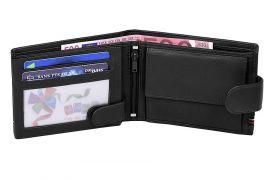 Černá pánská kožená peněženka WILD v krabičce E-batoh ec41712f90