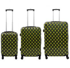 Cestovní kufr BOLOGNA s TSA velký L zelený MONOPOL E-batoh