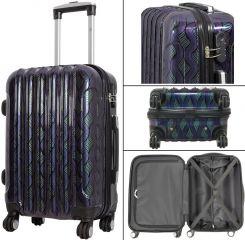 Cestovní kufr BOLOGNA s TSA velký L modrý MONOPOL E-batoh