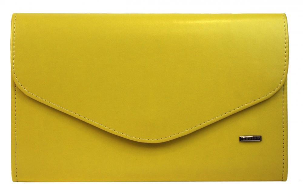 Banánově žluté matné dámské psaníčko SP102 GROSSO E-batoh