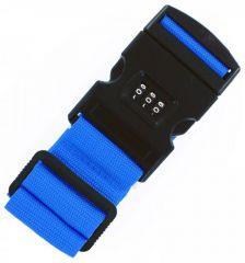 Bezpečnostní popruh na kufr s kódovým zámkem Bordlite WBAC02 - modrá