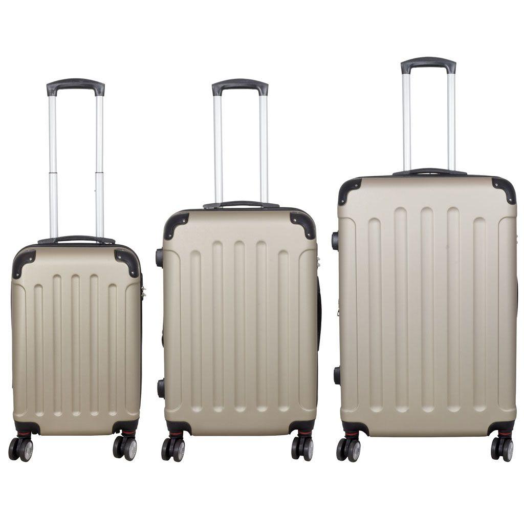Cestovní kufr AVALON II CHAMPAGNE střední M MONOPOL E-batoh