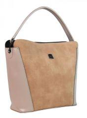 Lososovo-růžová elegantní dámská kabelka S691 GROSSO E-batoh