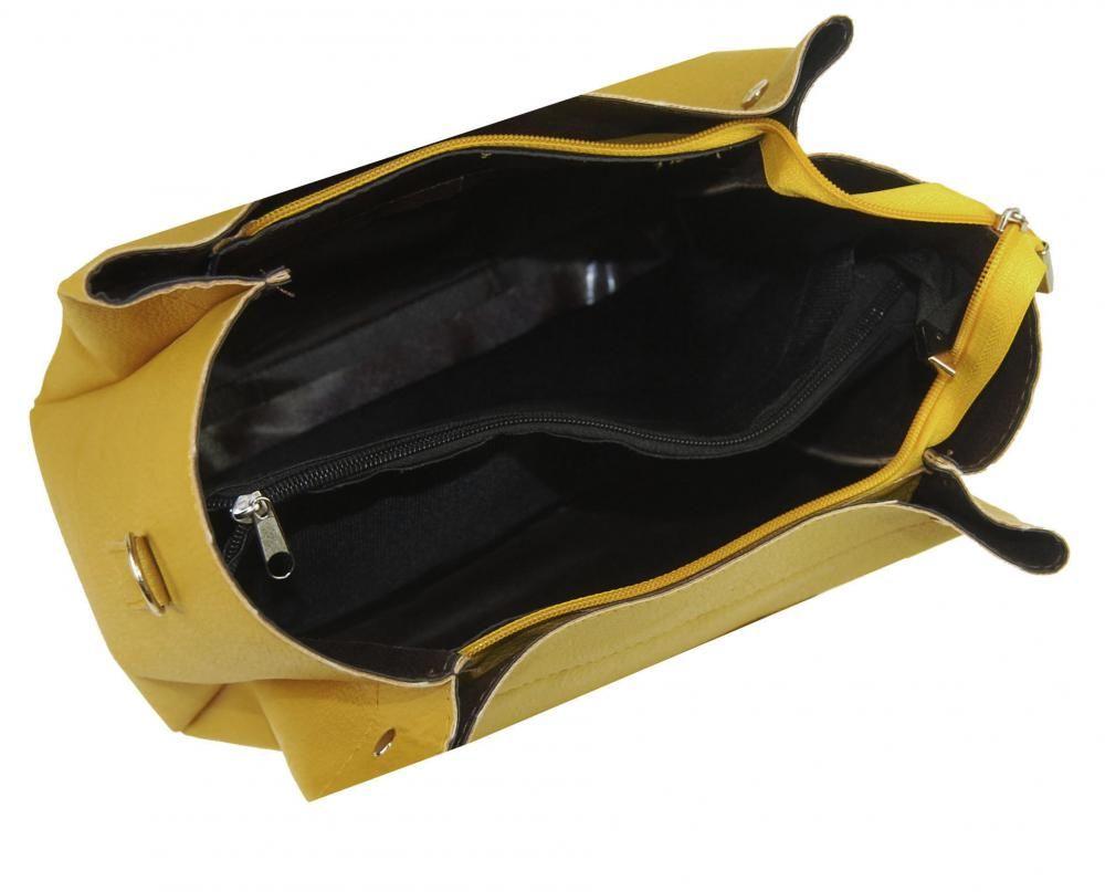 baebb92dd8 Moderní velká hořčicově žlutá dámská kabelka S649 GROSSO E-batoh