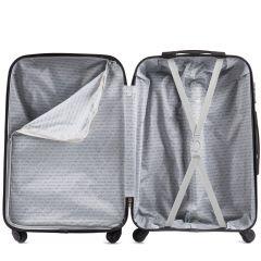 Cestovní kufr WINGS 518 ABS+TSA DARK BLUE malý S E-batoh
