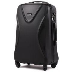 Cestovní kufr WINGS 518 ABS+TSA BLACK střední M