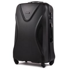 Cestovní kufr WINGS 518 ABS+TSA BLACK velký L
