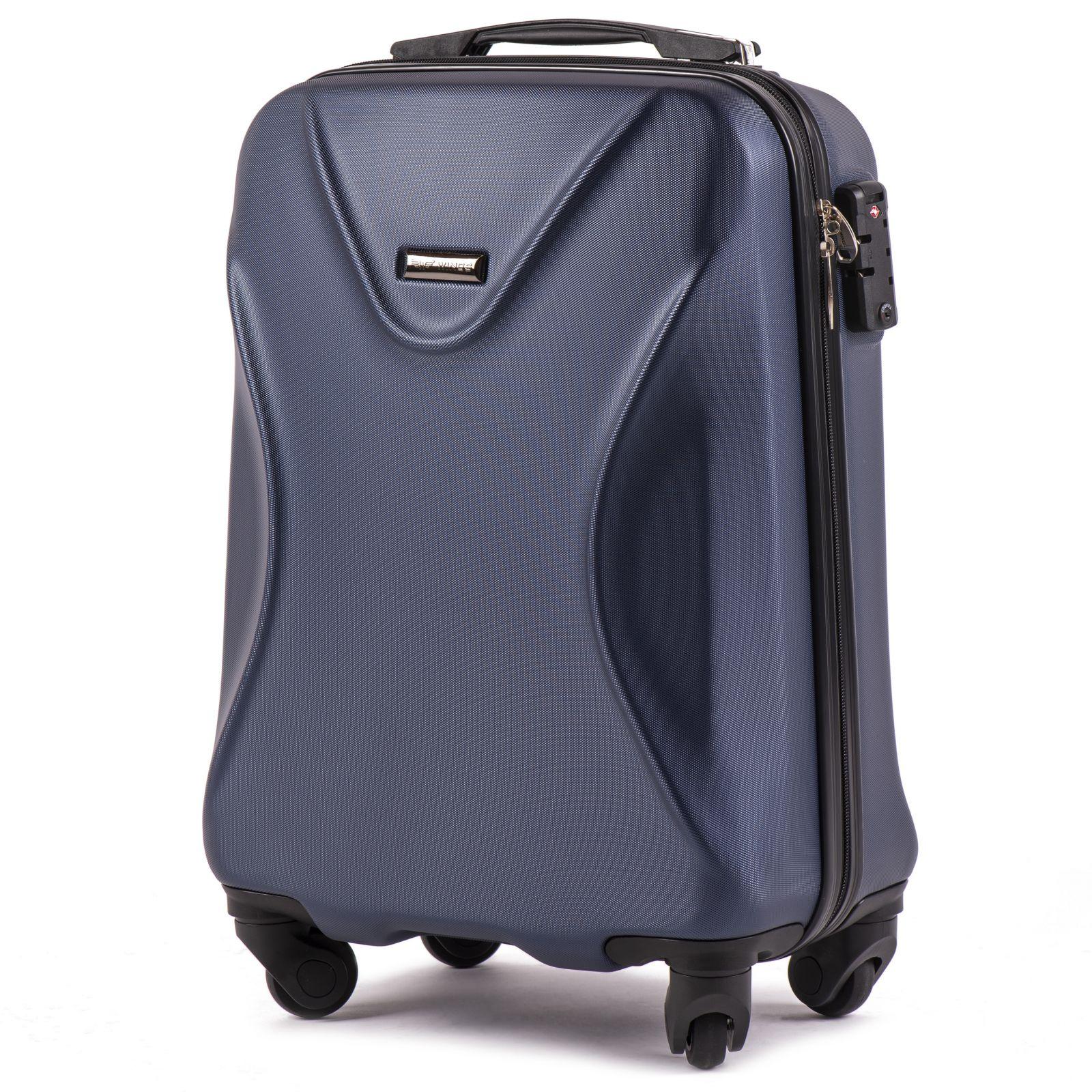 Cestovní kufr WINGS 518 ABS+TSA DARK BLUE malý S