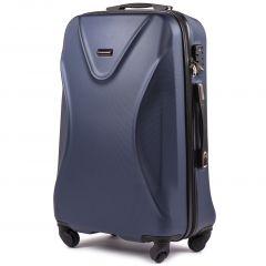 Cestovní kufr WINGS 518 ABS+TSA DARK BLUE střední M