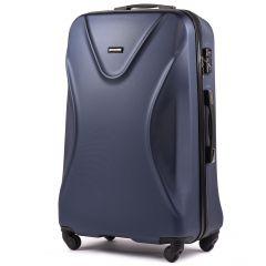 Cestovní kufr WINGS 518 ABS+TSA DARK BLUE velký L
