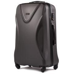 Cestovní kufr WINGS 518 ABS+TSA DARK GREY velký L