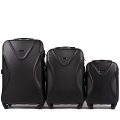 Cestovní kufry sada WINGS 518 ABS+TSA BLACK L,M,S