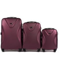 Cestovní kufry sada WINGS 518 ABS+TSA BURGUNDY L,M,S
