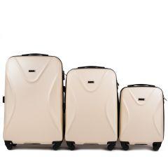 Cestovní kufry sada WINGS 518 ABS+TSA DIRTY WHITE L,M,S