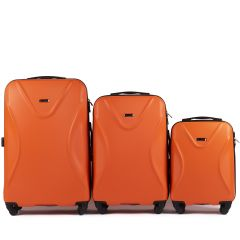Cestovní kufry sada WINGS 518 ABS+TSA ORANGE L,M,S
