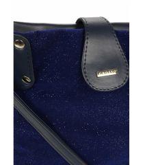 Modrá třpytivá dámská crossbody kabelka M66 GROSSO E-batoh