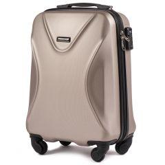 Cestovní kufr WINGS 518 ABS+TSA CHAMPAGNE malý S