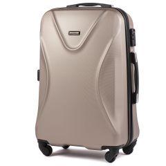 Cestovní kufr WINGS 518 ABS+TSA CHAMPAGNE střední M