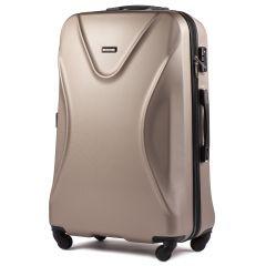 Cestovní kufr WINGS 518 ABS+TSA CHAMPAGNEvelký L