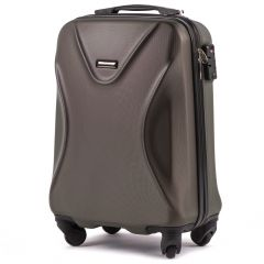Cestovní kufr WINGS 518 ABS+TSA COFFEE malý S