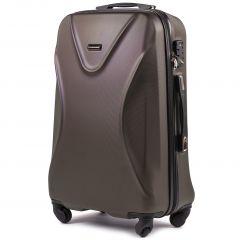 Cestovní kufr WINGS 518 ABS+TSA COFFEE střední M