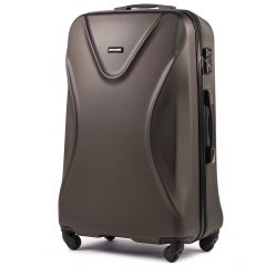 Cestovní kufr WINGS 518 ABS+TSA COFFEE velký L