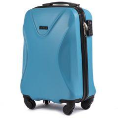 Cestovní kufr WINGS 518 ABS+TSA CYAN malý S