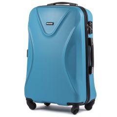 Cestovní kufr WINGS 518 ABS+TSA CYAN střední M