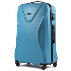 Cestovní kufr WINGS 518 ABS+TSA CYAN velký L