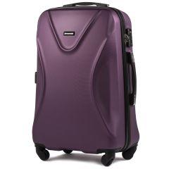 Cestovní kufr WINGS 518 ABS+TSA DARK PURPLE střední M