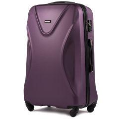Cestovní kufr WINGS 518 ABS+TSA DARK PURPLE velky L