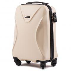 Cestovní kufr WINGS 518 ABS+TSA DIRTY WHITE malý S