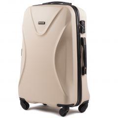 Cestovní kufr WINGS 518 ABS+TSA DIRTY WHITE střední M