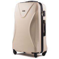 Cestovní kufr WINGS 518 ABS+TSA DIRTY WHITE velký L