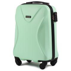 Cestovní kufr WINGS 518 ABS+TSA LIGHT GREEN malý S