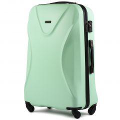 Cestovní kufr WINGS 518 ABS+TSA LIGHT GREEN velký L