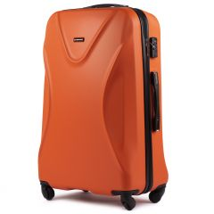 Cestovní kufr  WINGS 518 ABS+TSA ORANGE velký L