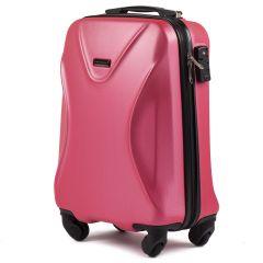 Cestovní kufr WINGS 518 ABS+TSA ROSE RED malý S