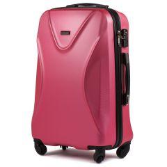 Cestovní kufr  WINGS 518 ABS+TSA ROSE RED střední M