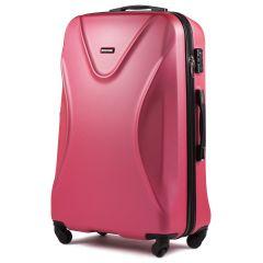 Cestovní kufr WINGS 518 ABS+TSA ROSE RED velký L
