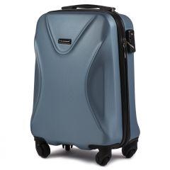 Cestovní kufr WINGS 518 ABS+TSA SILVER BLUE malý S