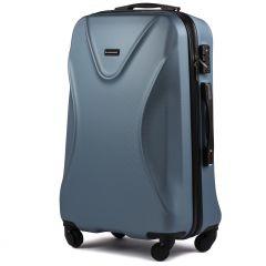 Cestovní kufr WINGS 518 ABS+TSA SILVER BLUE střední M