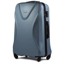 Cestovní kufr WINGS 518 ABS+TSA SILVER BLUE velký L