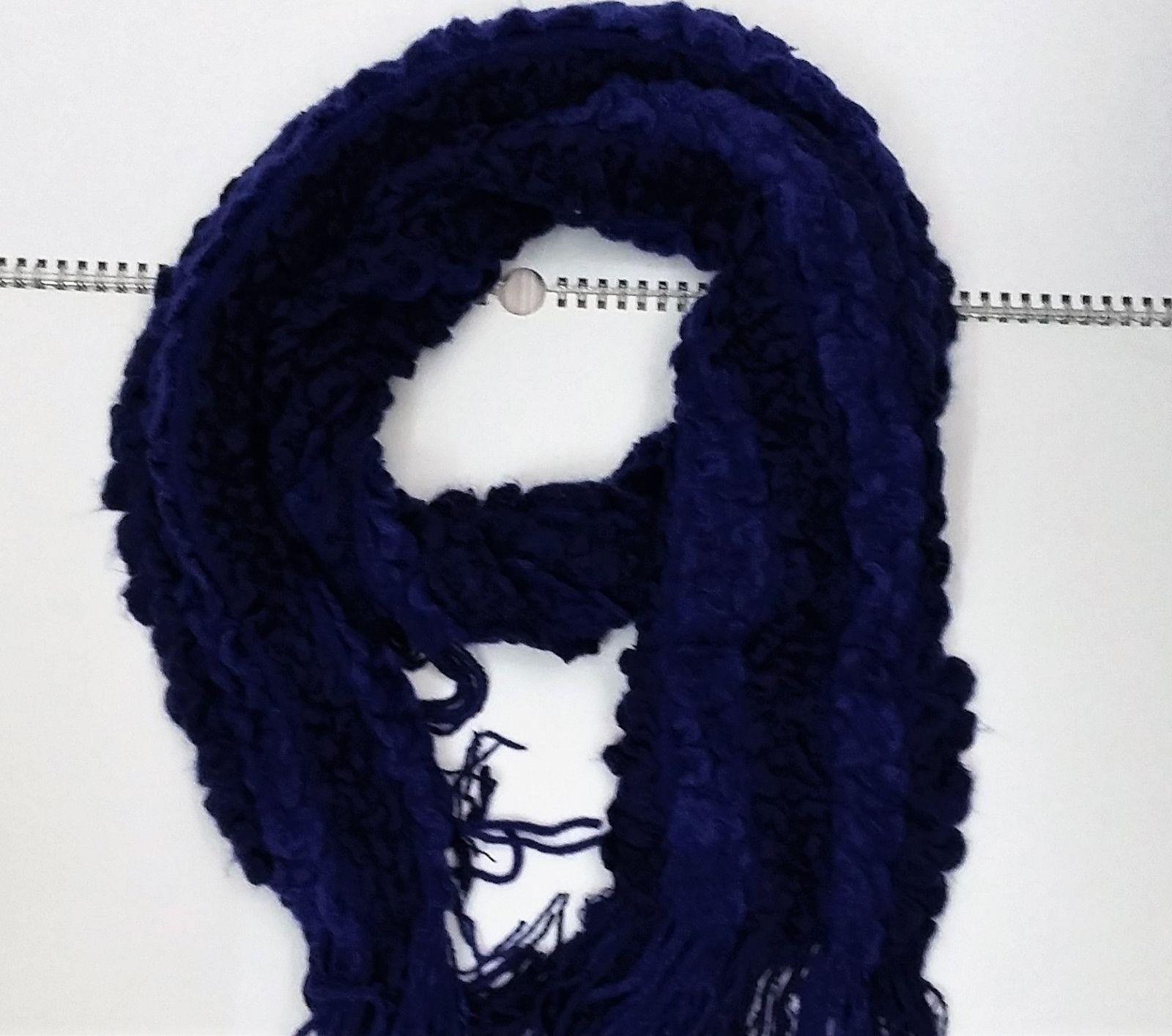 Zimní nákrčník šála modrá